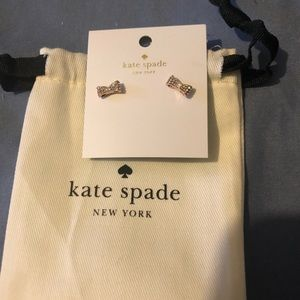 Elegant Kate Spade Rosegold Bow Earrings